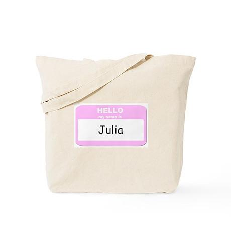 My Name is Julia Tote Bag