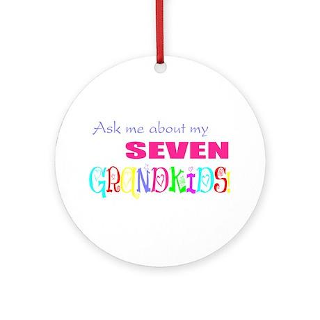Seven Grandkids Ornament (Round)