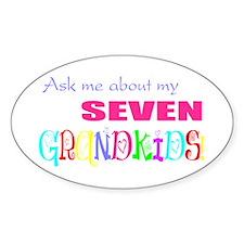 Seven Grandkids Oval Decal