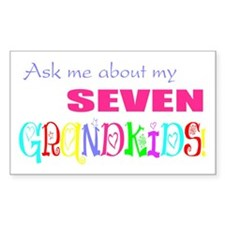 Seven Grandkids Rectangle Decal