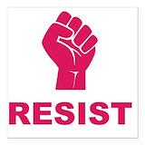 Resist trump Square Car Magnets