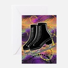 Funny Winter sports ice curling Greeting Card