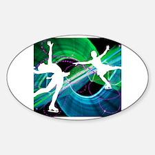 Unique Figure skating Sticker (Oval)