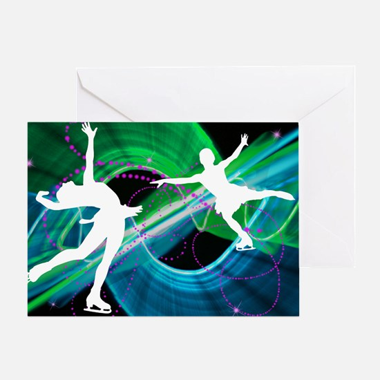 Unique Figure skating Greeting Card