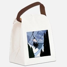 Unique Winter sports ice curling Canvas Lunch Bag