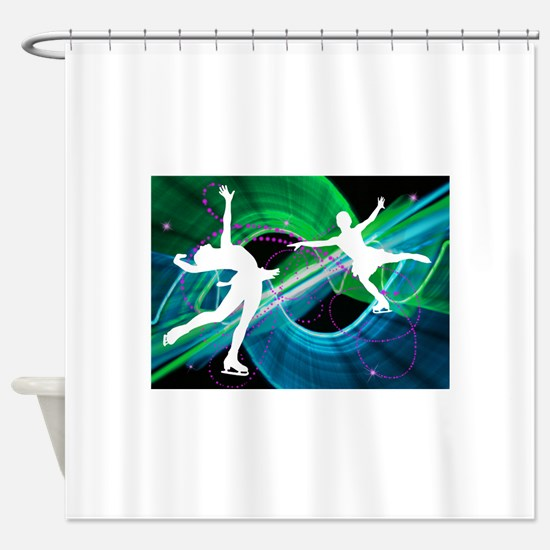 Bedazzled Figure Skaters Shower Curtain
