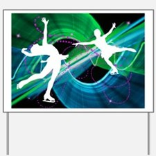 Bedazzled Figure Skaters Yard Sign