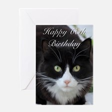 Happy 60th Birthday cat Greeting Cards