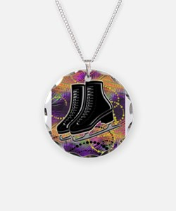 Black Ice Skates and Technic Necklace