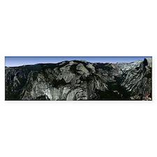 Yosemite Valley Panoramic View Bumper Bumper Sticker