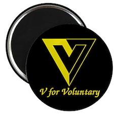 """V for Voluntary 2.25"""" Magnet (100 pack)"""
