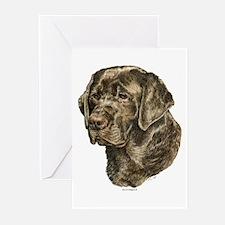 Labrador Retriever Dog Portrait Greeting Cards (6)