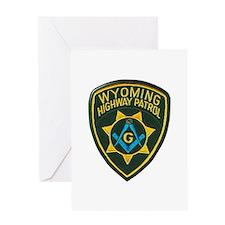 Wyoming Highway Patrol Mason Greeting Cards