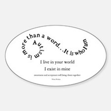 Autism ~ Two worlds Bumper Stickers
