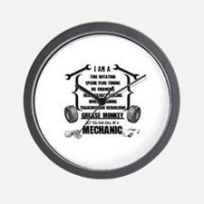 Call me Mechanic Wall Clock