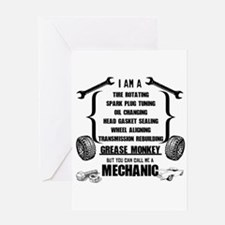 Call me Mechanic Greeting Cards
