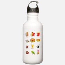 Unique Burger and fries Water Bottle
