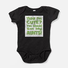 Cute My auntie rocks Baby Bodysuit