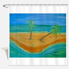 Sand Bar Shower Curtain
