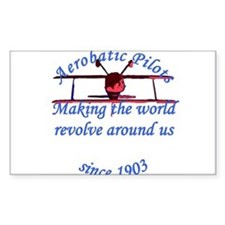 Making the world Revolve arou Sticker (Rectangular