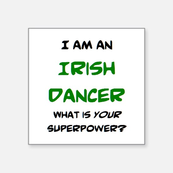 "irish dancer Square Sticker 3"" x 3"""