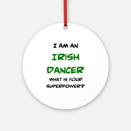 irish dancer Round Ornament