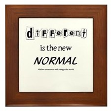Different is the new normal Framed Tile