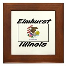 Elmhurst Illinois Framed Tile