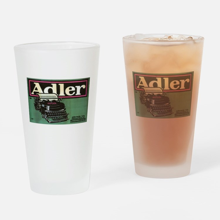 Vintage poster - Adler Typewriters Drinking Glass