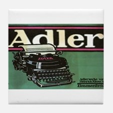 Vintage poster - Adler Typewriters Tile Coaster
