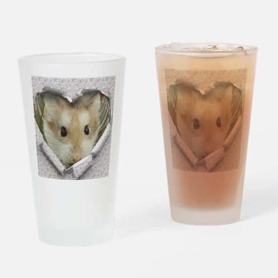 Peep Hole Hamster Drinking Glass
