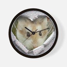 Peep Hole Hamster Wall Clock