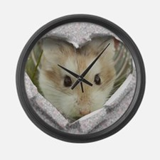 Peep Hole Hamster Large Wall Clock