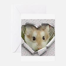 Peep Hole Hamster Greeting Cards
