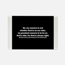 Cute Lincoln quote Rectangle Magnet