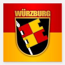 "Wurzburg Square Car Magnet 3"" x 3"""
