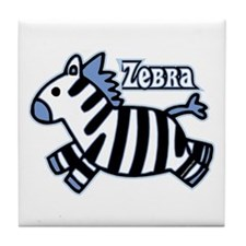 Blue Baby Zebra Tile Coaster