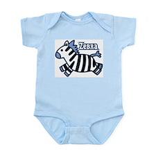 Blue Baby Zebra Infant Bodysuit