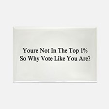 YOU'RE NOT IN THE TOP 1% ONE-PERC Rectangle Magnet