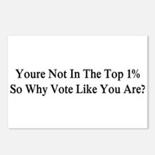 YOU'RE NOT IN THE TOP 1% Postcards (Package of 8)