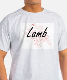 Lamb surname artistic design with Butterfl T-Shirt