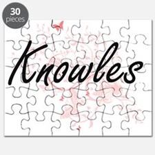 Knowles surname artistic design with Butter Puzzle