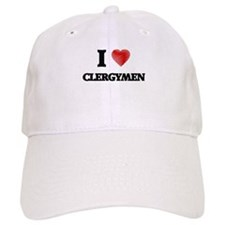 I love Clergymen (Heart made from words) Cap