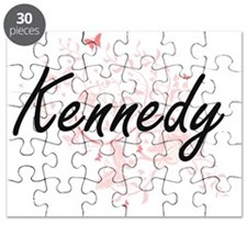 Kennedy surname artistic design with Butter Puzzle