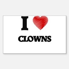 I love Clowns (Heart made from words) Decal