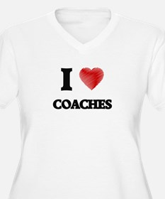 I love Coaches (Heart made from Plus Size T-Shirt