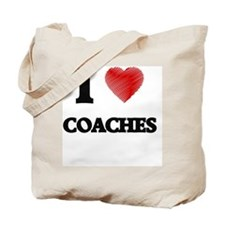 I love Coaches (Heart made from words) Tote Bag