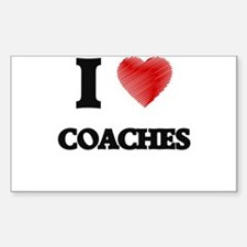 I love Coaches (Heart made from words) Decal