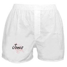 Jones surname artistic design with Bu Boxer Shorts