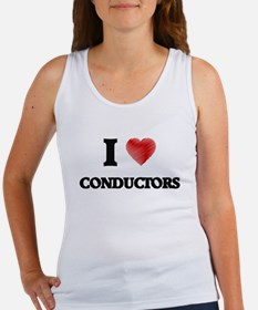 I love Conductors (Heart made from words) Tank Top